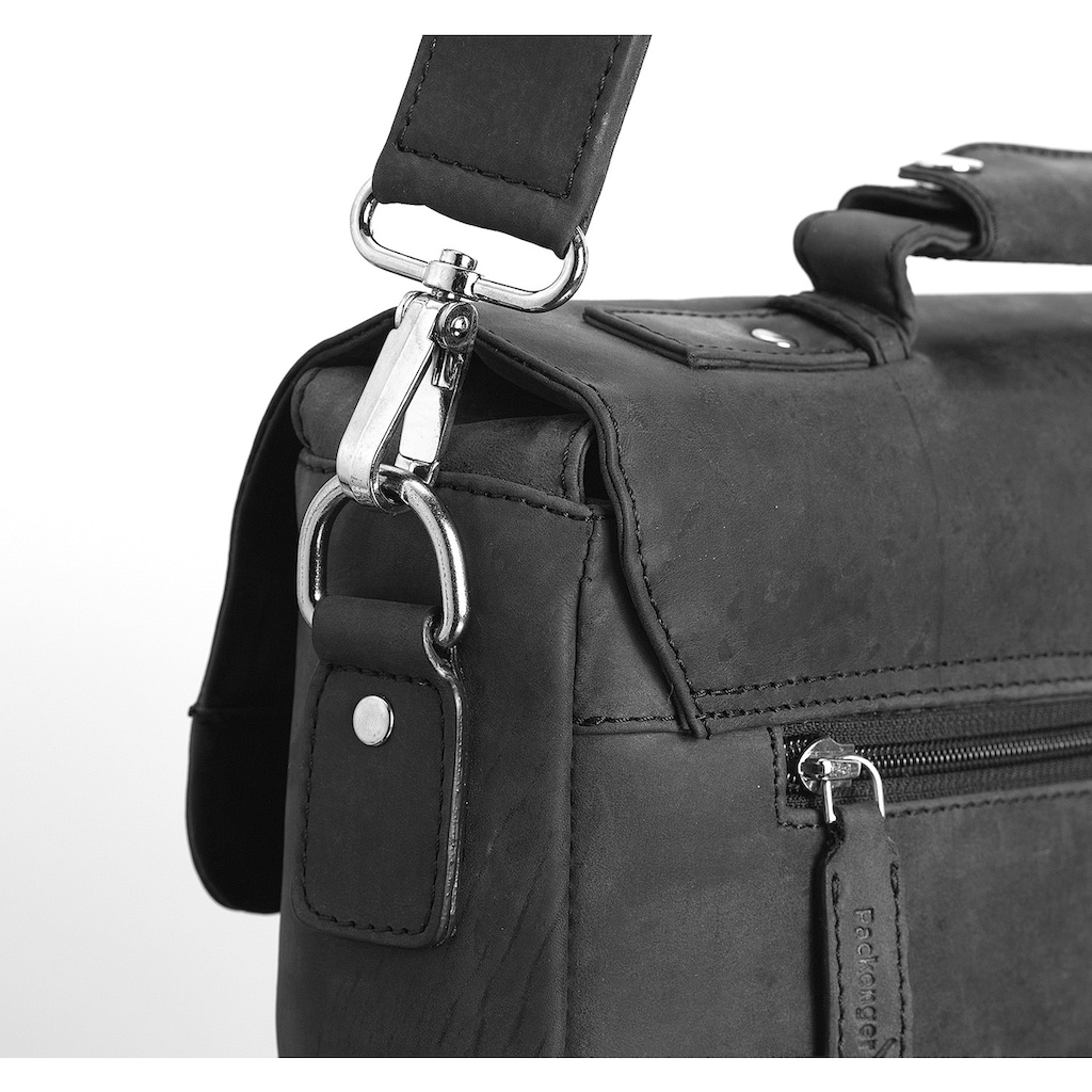 Packenger Umhängetasche »Kolbjorn, schwarz«, mit 14-Zoll Laptopfach