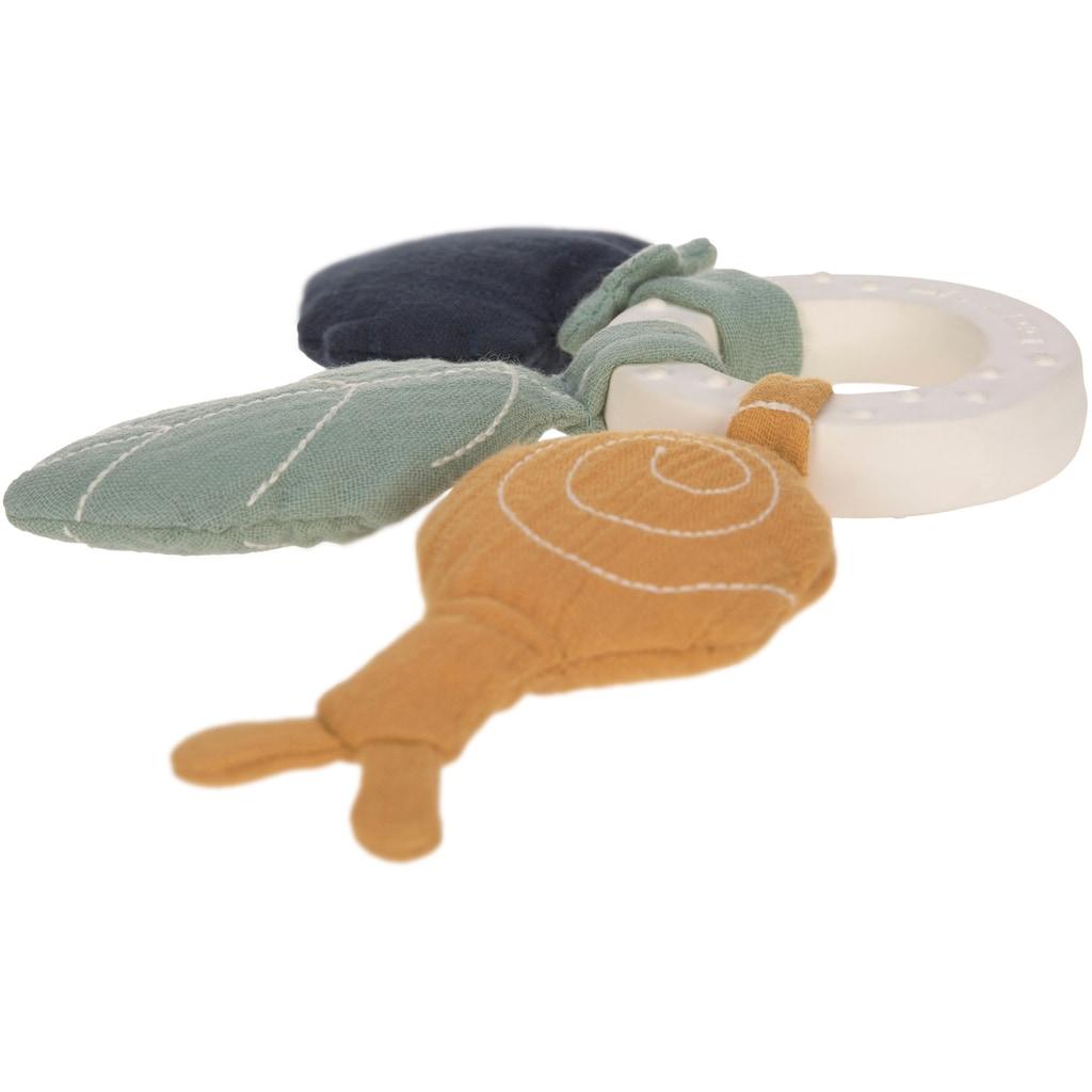 Lässig Beißring »Garden Explorer, Snail«, mit Greiffunktion; PETA-approved vegan