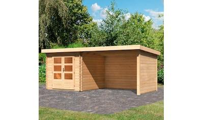 KONIFERA Set: Gartenhaus »Schloßsee 4«, BxT: 554x333 cm, mit Anbau inkl. Seiten -  und Rückwand kaufen