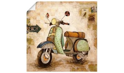 Artland Wandbild »Drum herum II«, Motorräder & Roller, (1 St.), in vielen Größen &... kaufen
