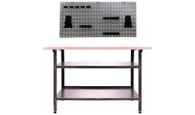 ONDIS24 Werkstatt-Set, Werkbank & Lochwand, inkl. 22-tlg. Hakenset kaufen