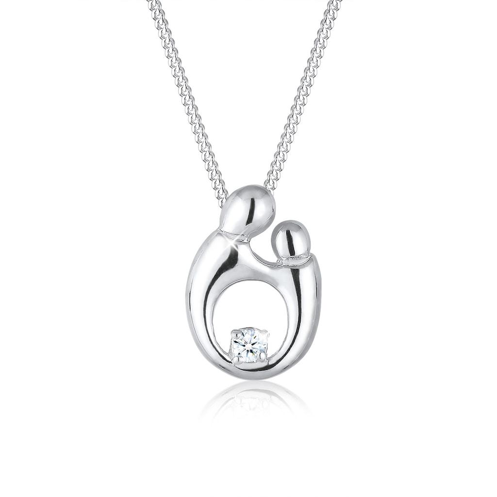 Diamore Collierkettchen »Mutter Kind Diamant (0.03 ct.) 925 Sterling Silber«