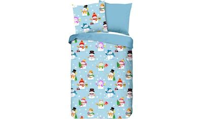 Kinderbettwäsche »Snowmen«, good morning kaufen