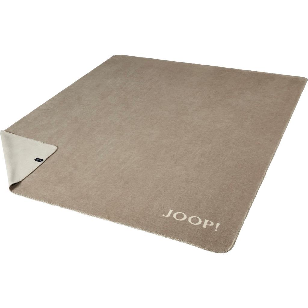 Joop! Wohndecke »JOOP! MELANGE-DOUBLEFACE«, mit elegantem Kornblumen-Verlauf