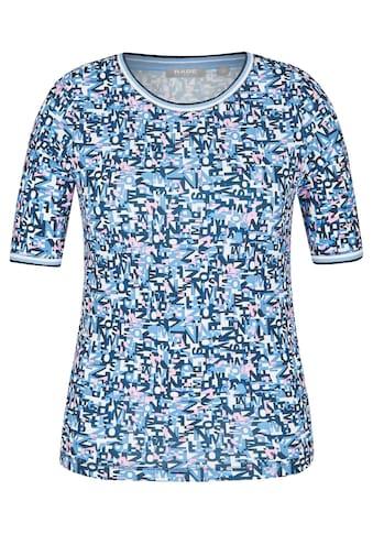 Rabe T - Shirt mit Allover - Lettering und Rips - Band kaufen