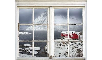 queence Wandsticker »Haus im Schnee« kaufen