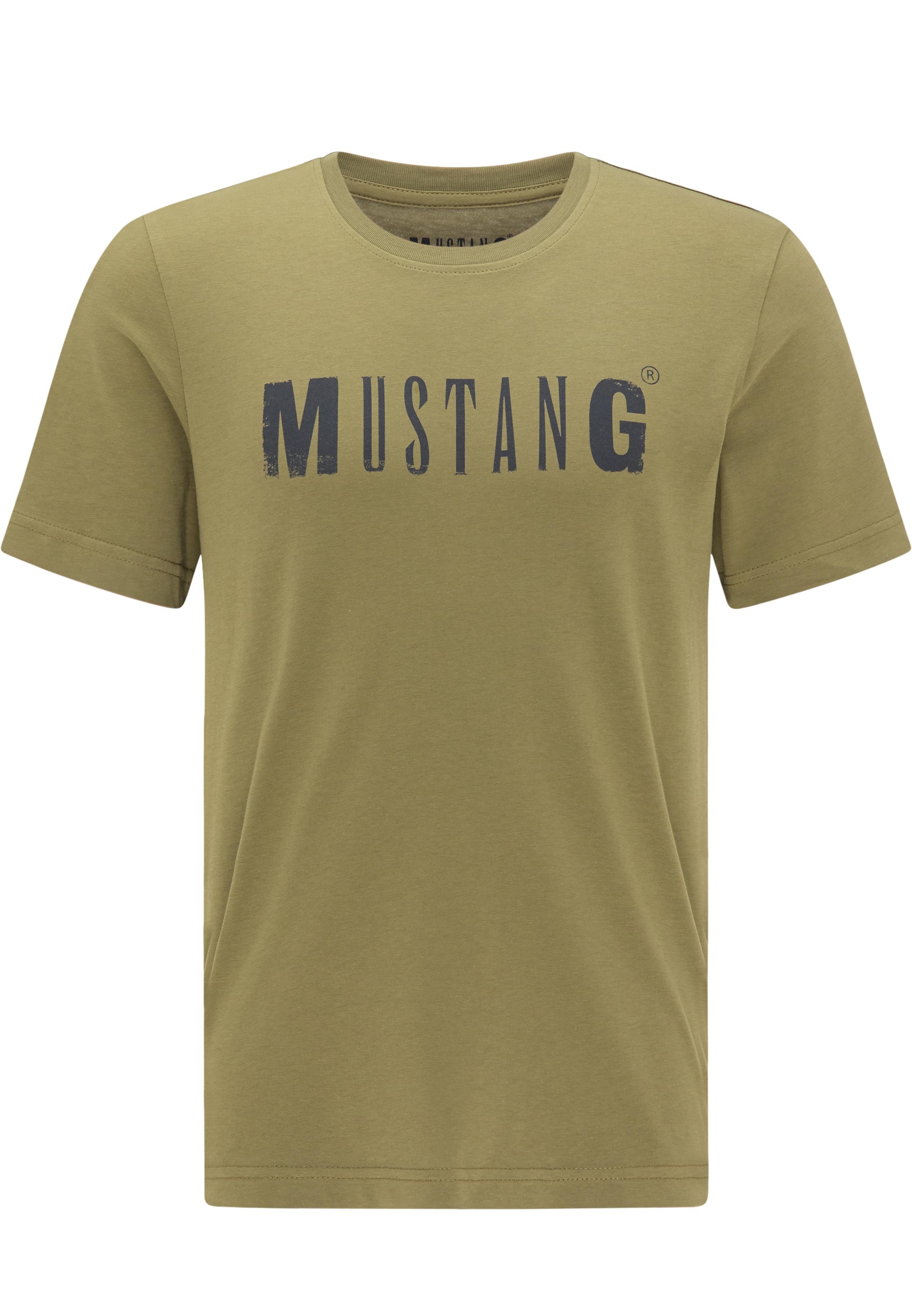 MUSTANG T-Shirt LOGO Tee grün Herren Mustang