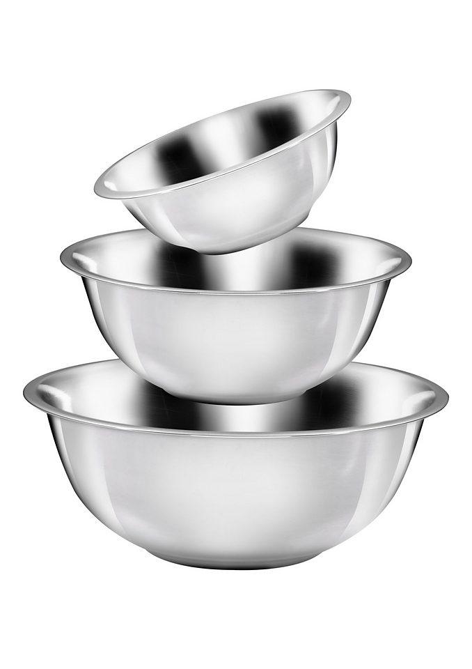 KING Schüssel, Ø 28, 32 und 36 cm silberfarben Schüsseln Saucieren Geschirr, Porzellan Tischaccessoires Haushaltswaren Schüssel