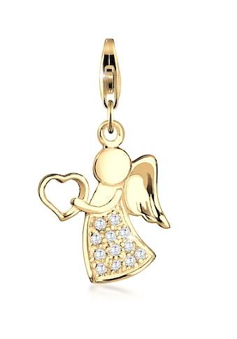 Nenalina Charm - Einhänger »Anhänger Engel Glücksbringer Zirkonia 925 Silber« kaufen