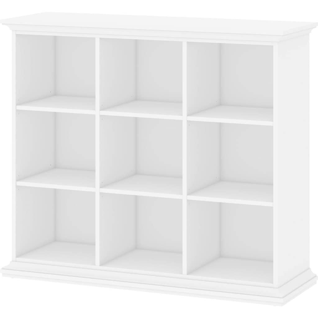 Home affaire Bücherregal »Paris«, mit 4 Einlegeböden, für viele Stauraummöglichkeiten, Höhe 119,9 cm