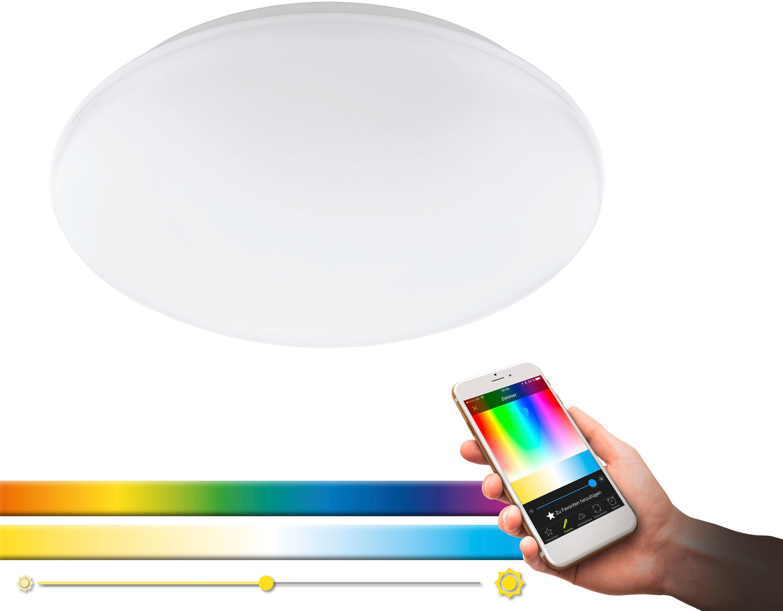 EGLO LED Deckenleuchte GIRON-C, LED-Board, Neutralweiß-Tageslichtweiß-Warmweiß-Kaltweiß, EGLO CONNECT, Steuerung über APP + Fernbedienung,BLE, CCT, RGB