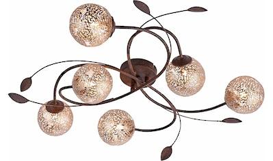 Paul Neuhaus Deckenleuchte »GRETA«, G9, mit goldfarbenen Metallschirmen, ohne Leuchtmittel kaufen