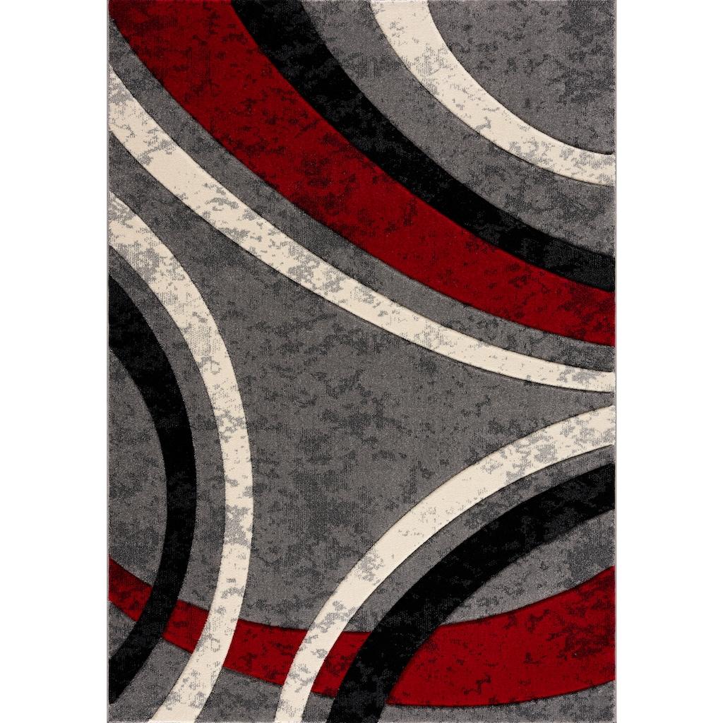 Home affaire Teppich »Jelva«, rechteckig, 18 mm Höhe, mir handgearbeiteten Konturenschnitt, Wohnzimmer