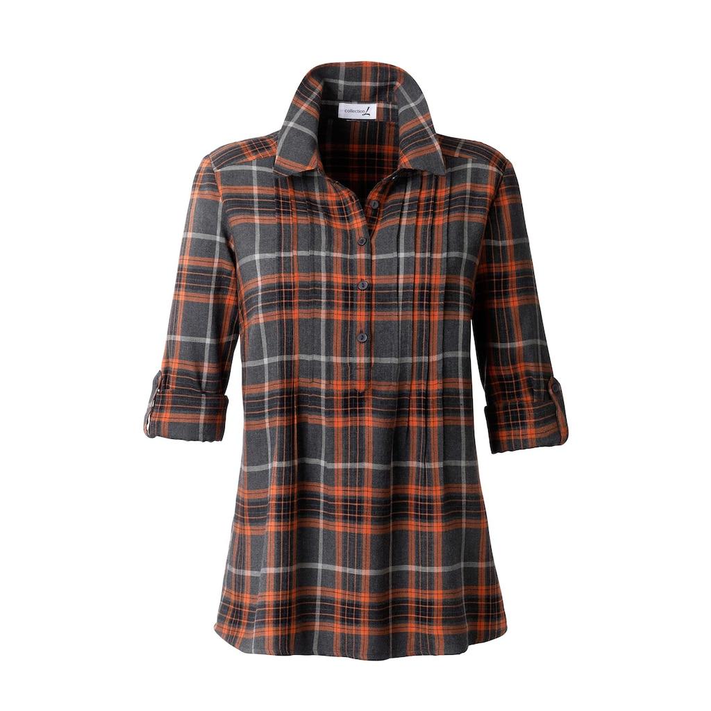 Bluse im hochwertig garngefärbtem Karodessin