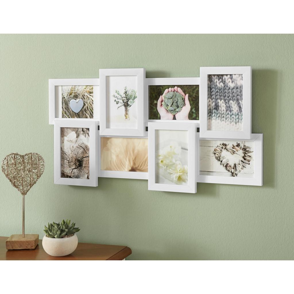 Home affaire Bilderrahmen Collage, für 8 Bilder, (1 St.), Fotorahmen, weiß, Bildformat 10x15 cm