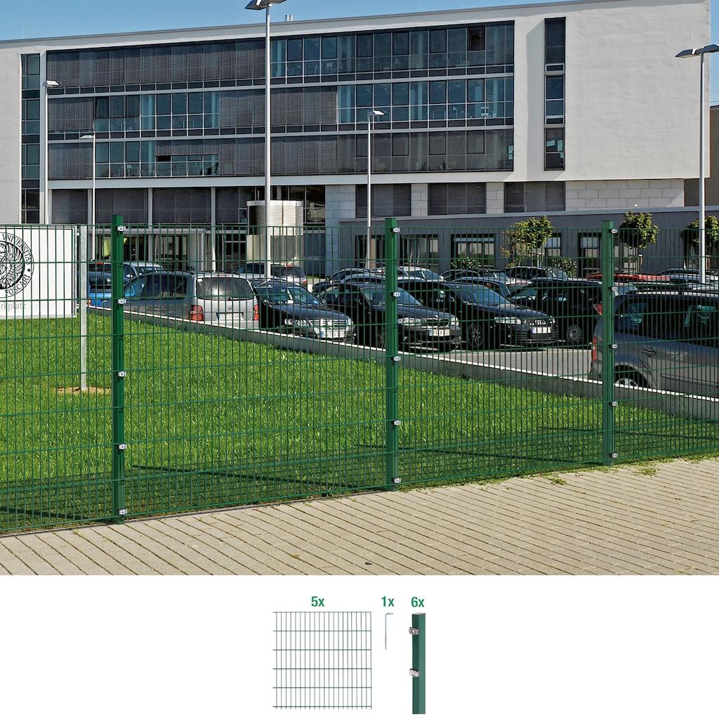 GAH Alberts Doppelstabmattenzaun, 120 cm hoch, 5 Elemente für 10 m