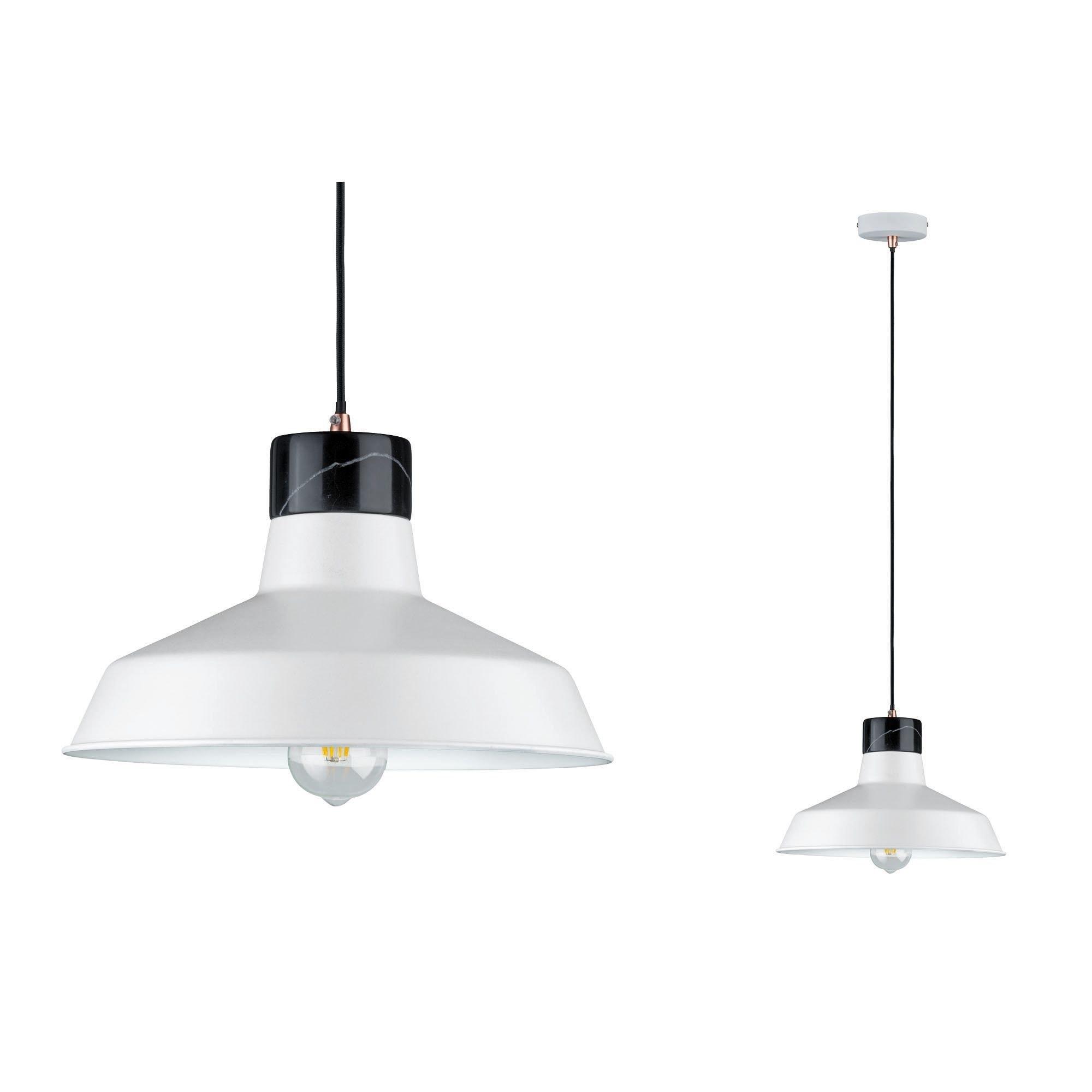 Paulmann LED Pendelleuchte Neordic Disa Weiß/Schwarz/Marmor, E27, 1 St.