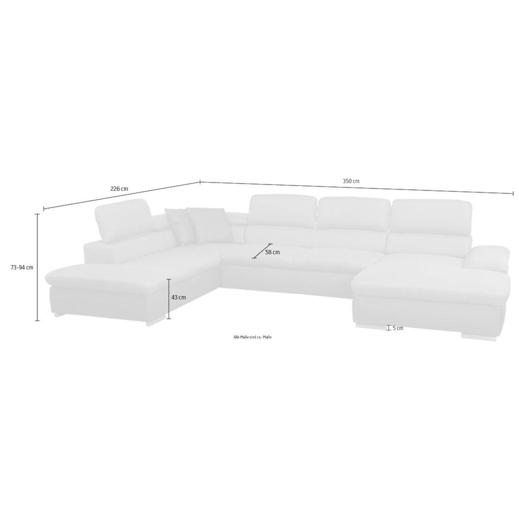 sit&more Wohnlandschaft, inkl. Kopfteilverstellung und wahlweise mit Bettfunktion