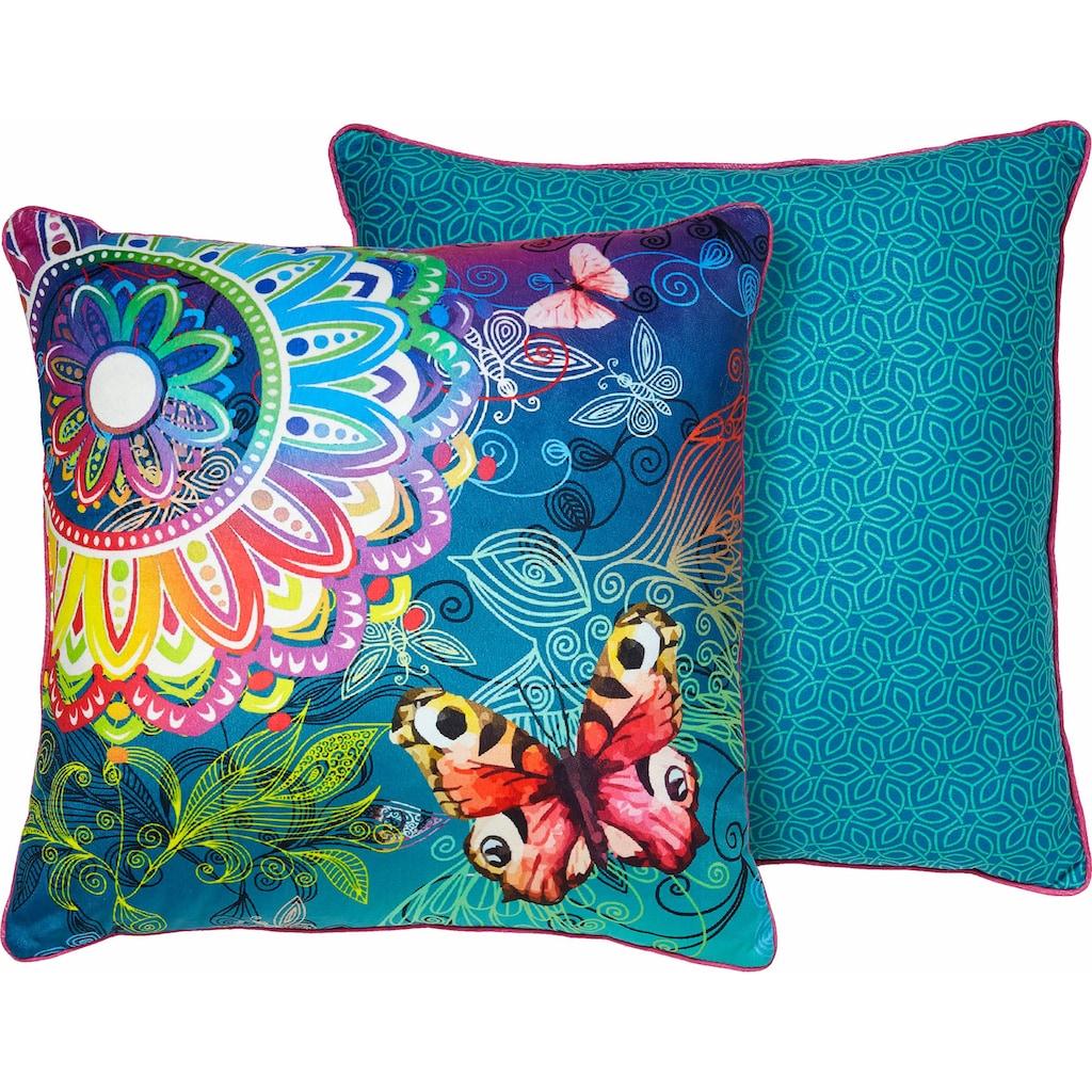 hip Dekokissen »Parada«, mit Schmetterlingen und Mandalas