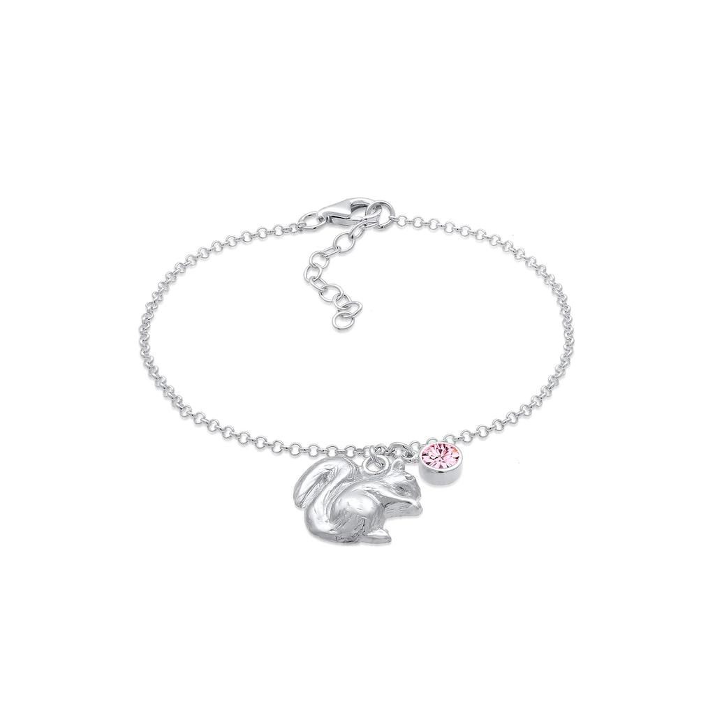 Elli Armband »Eichhörnchen Wiesn Kristalle 925 Silber«
