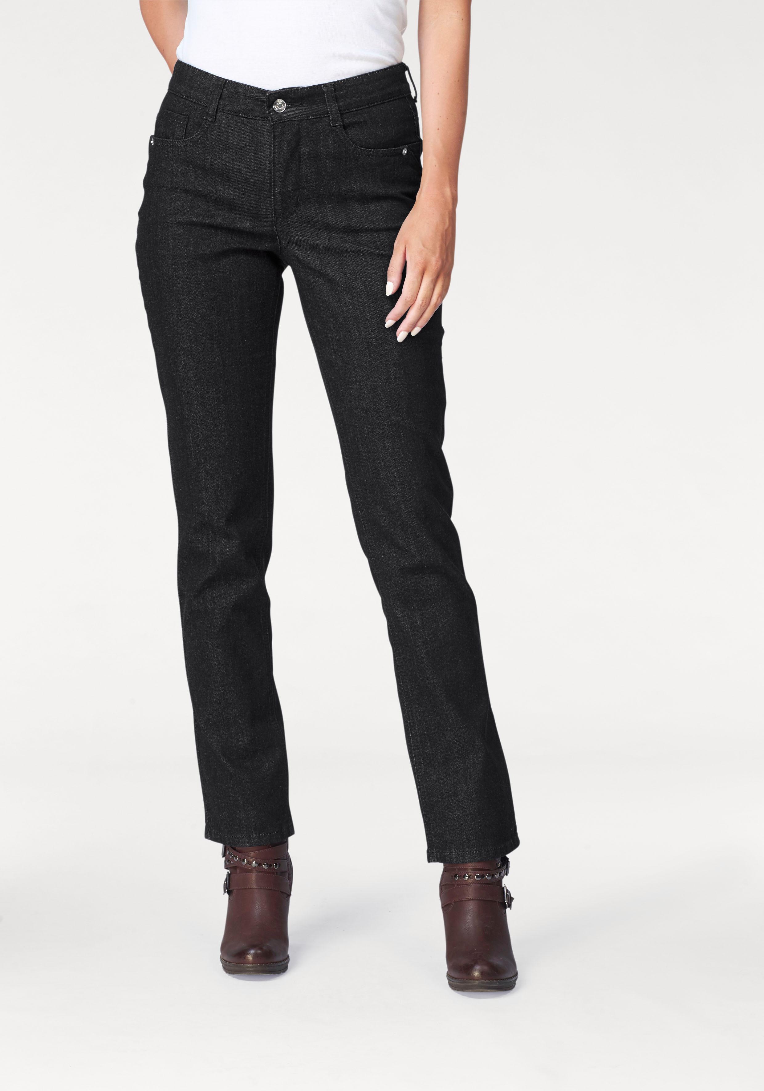 MAC 5-Pocket-Jeans Melanie Stitch   Bekleidung > Jeans   Schwarz   Mac