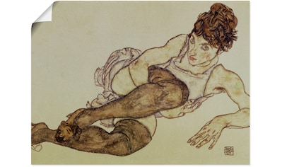 Artland Wandbild »Liegende Frau mit grünen Strümpfen. 1917« kaufen