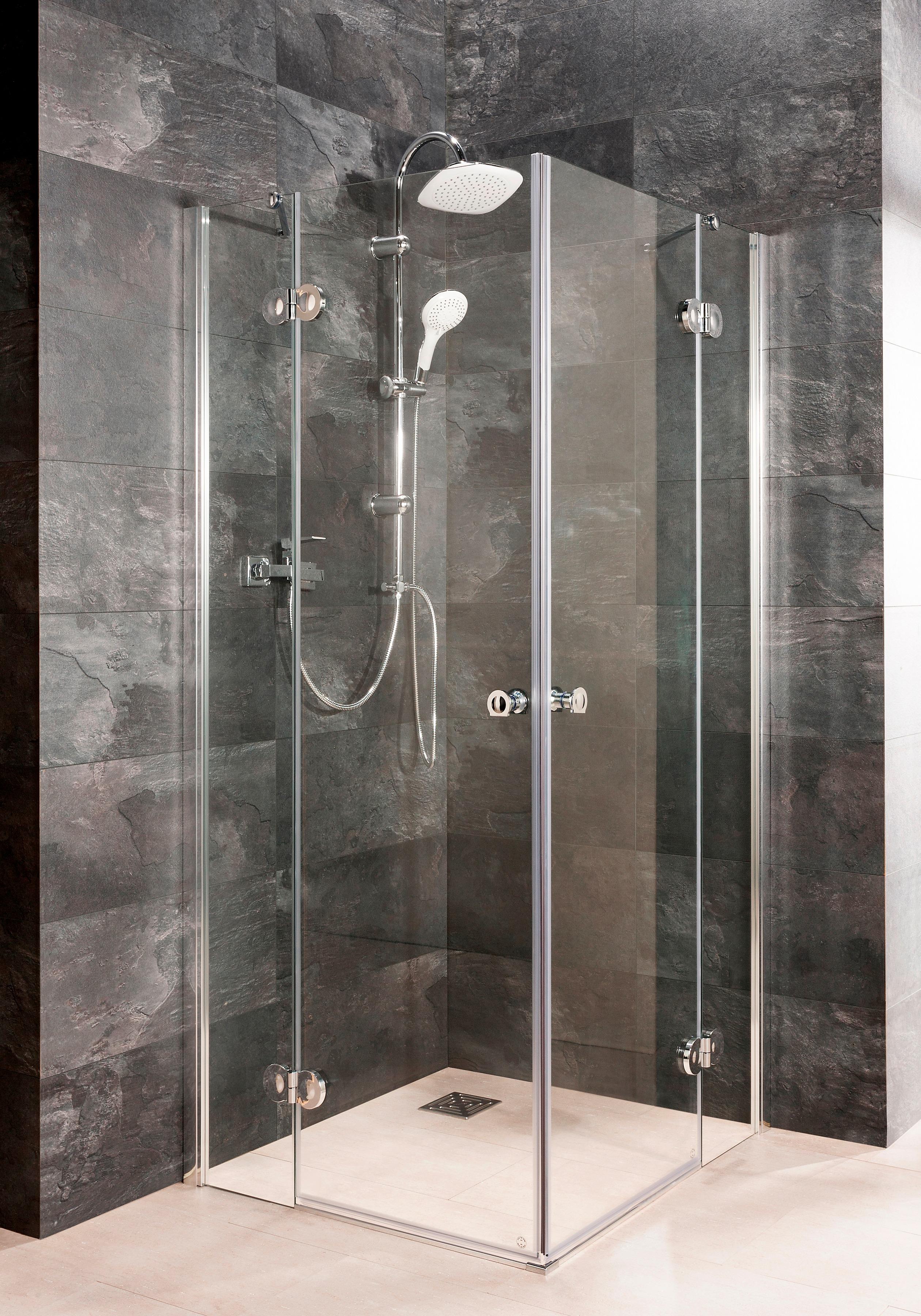 maw Eckdusche Relax Special, mit Drehtür silberfarben Duschkabinen Duschen Bad Sanitär