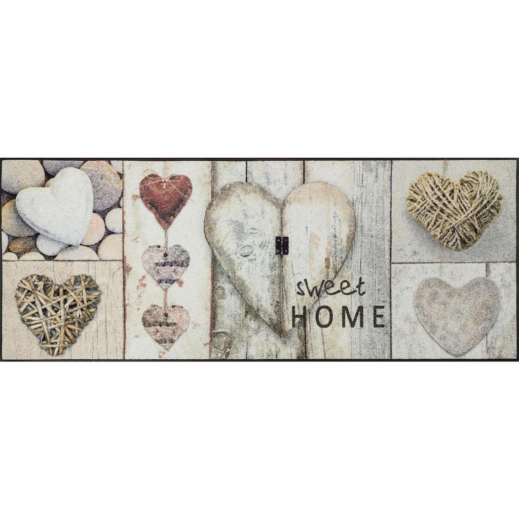 wash+dry by Kleen-Tex Läufer »Vintage Hearts«, rechteckig, 7 mm Höhe, In- und Outdoor geeignet, waschbar