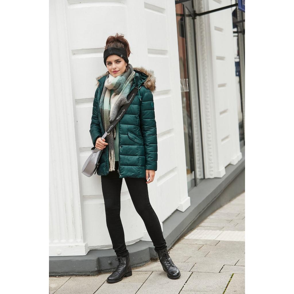 Tamaris Winterjacke, mit abnehmbarer Kunstfellkapuze