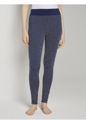 TOM TAILOR Leggings »Gepunktete Pyjama Leggings« kaufen