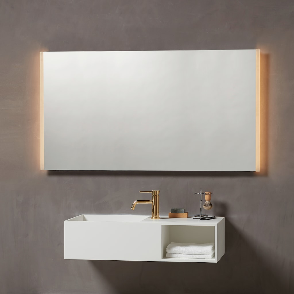 Loevschall LED-Lichtspiegel »Lago«, 120x75 cm, mit Beleuchtung
