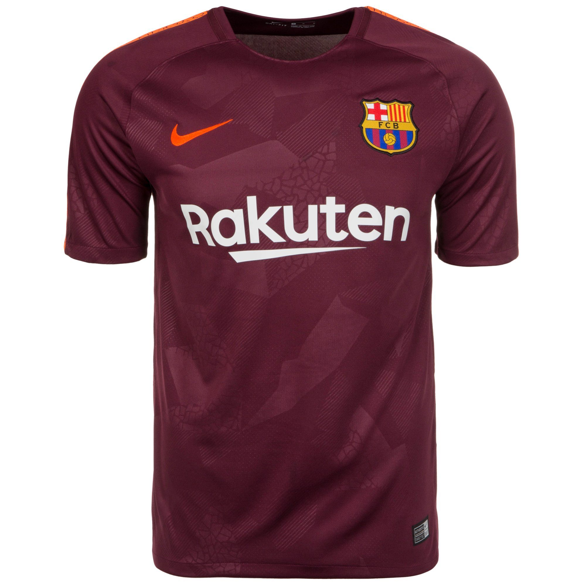 Nike Fußballtrikot Fc Barcelona Stadium 17/18 3rd | Sportbekleidung > Trikots | Rot | Nike