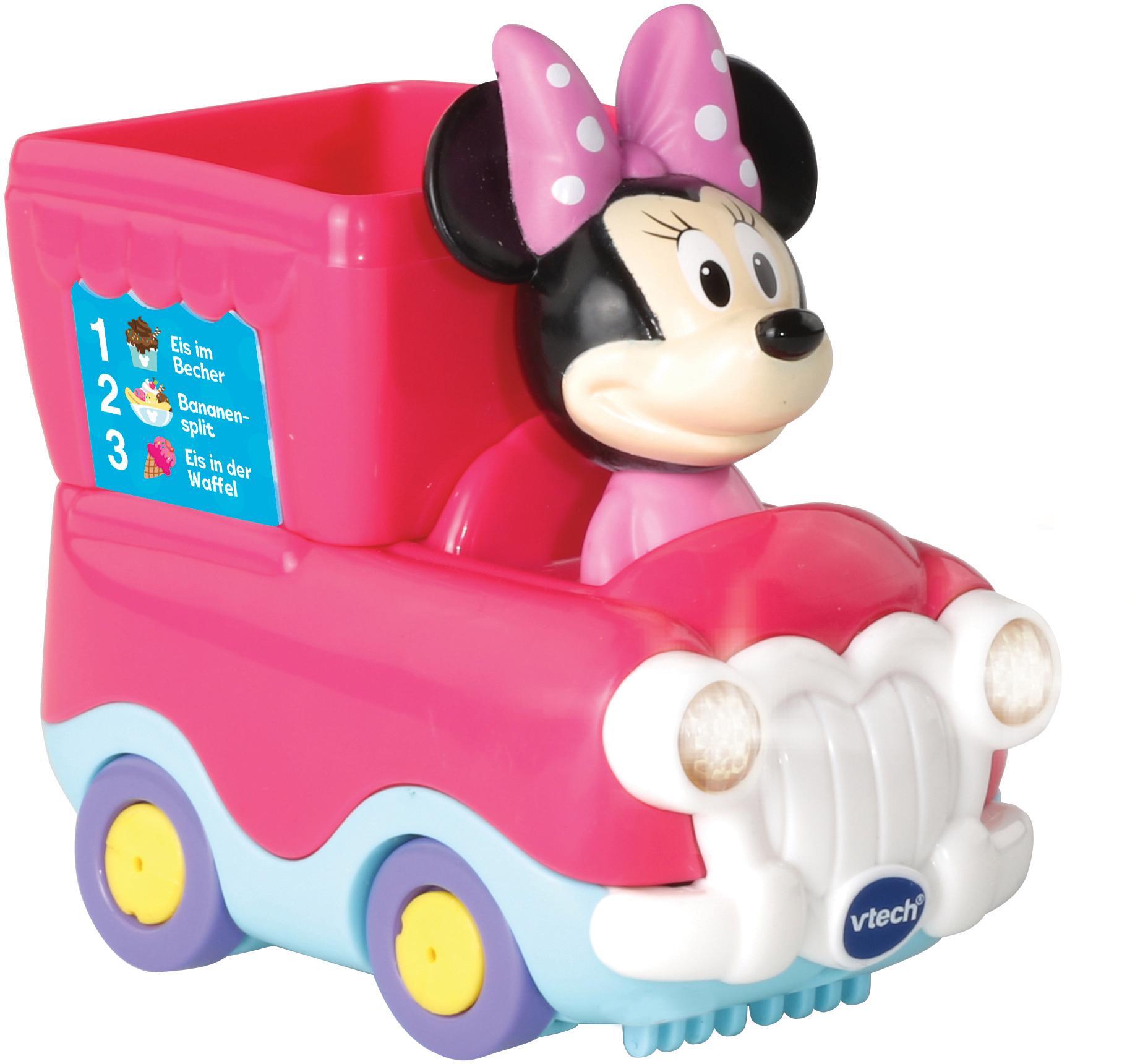 Vtech Spielzeug-Auto Tut Baby Flitzer Minnies Eisdiele (Set) rosa Kinder Ab 12 Monaten Altersempfehlung Spielzeugfahrzeuge