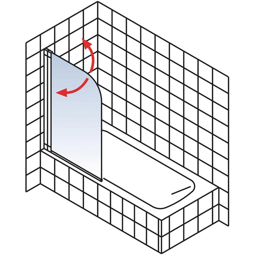 Schulte Badewannenaufsatz »Komfort«, BxH: 80 x 140 cm, aluminiumoptik
