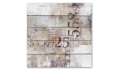 queence Holzbild »Abstrakt - Zahlen«, 50x50 cm kaufen