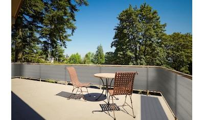 Floracord Balkonsichtschutz, BxH: 500x90 cm, grau/anthrazit kaufen