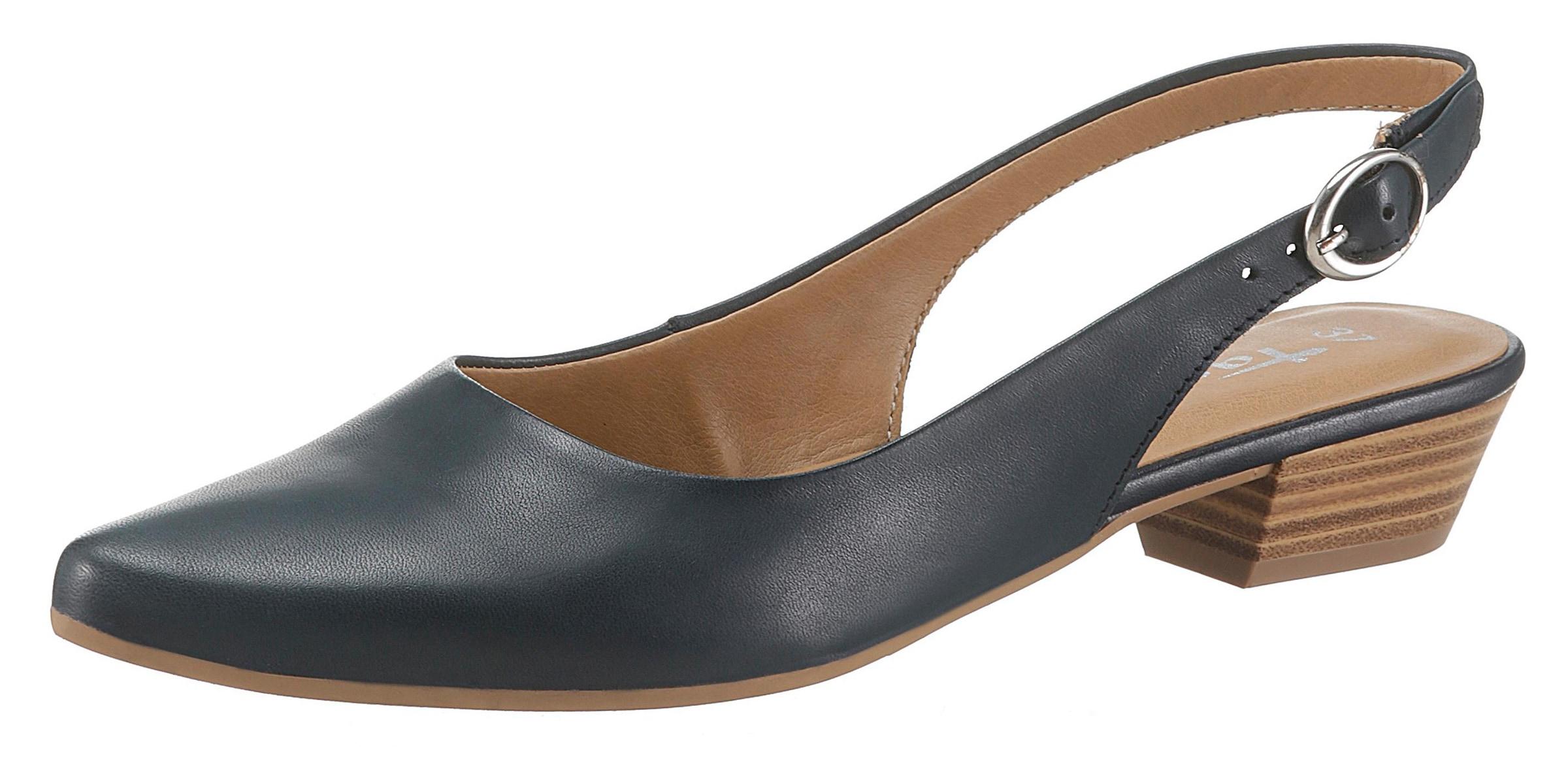 Details zu Slingpumps Tamaris Damenmode Pumps Damen Schuhe Aus Edlem Leder In Spitzer Form
