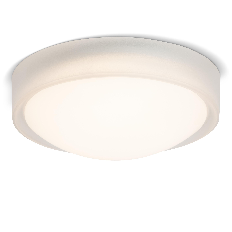 Brilliant Leuchten Tonia LED Wand- und Deckenleuchte 26cm transparent/weiß