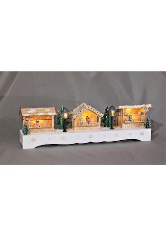 HGD Holz - Glas - Design Beleuchteter Weihnachtsmarkt kaufen