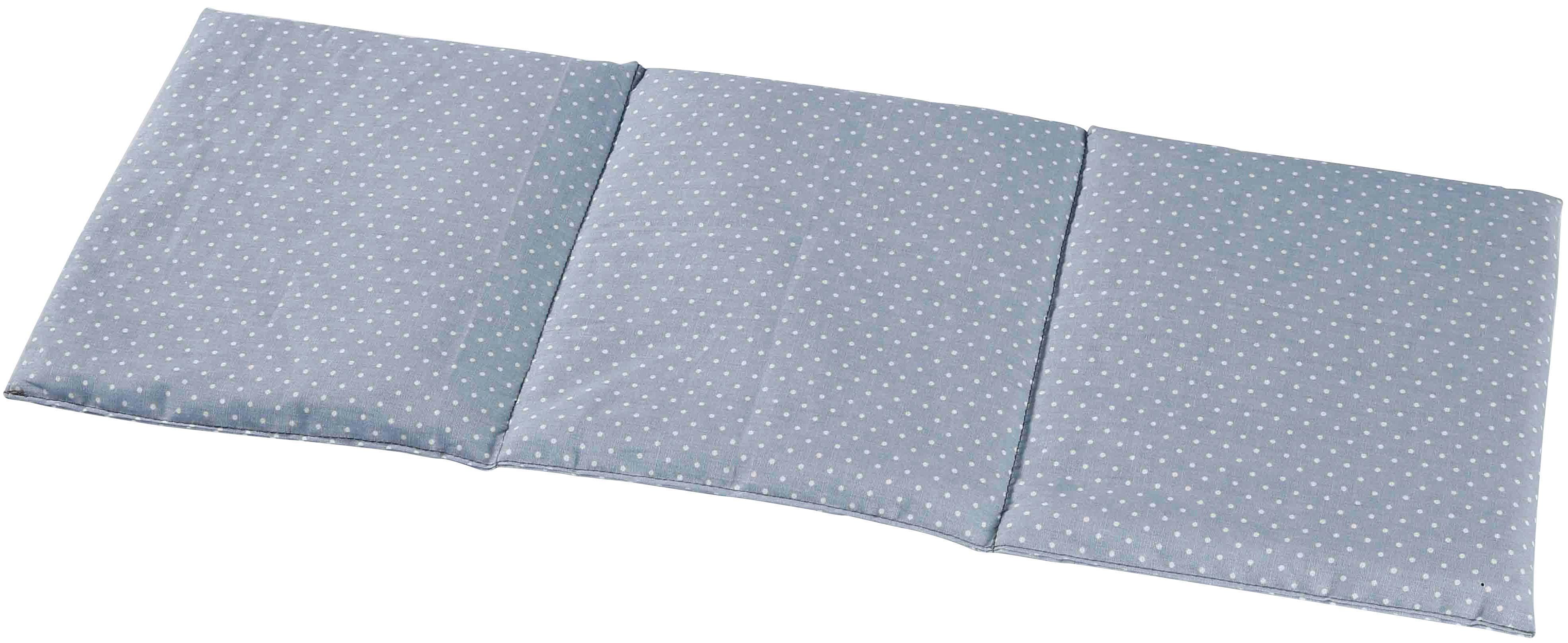 3-Kammer-Kopfkissen, »4235 3-Kammer Wärmekissen, 50x20 cm Pastellblau«, herbalind, Füllung: 100% Rapsamen, Bezug: 100% B