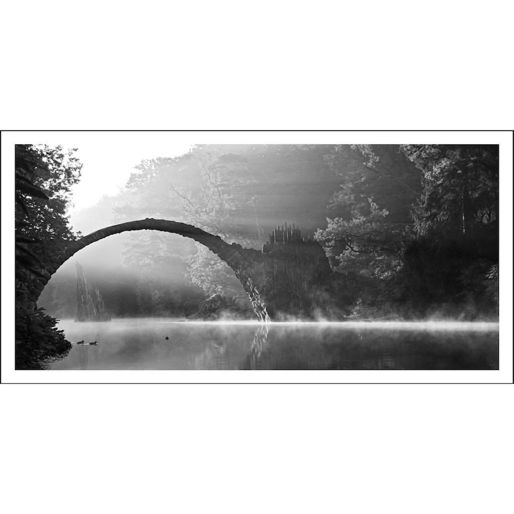 Spiegelprofi GmbH Bild »Brücke«, mit Rahmen
