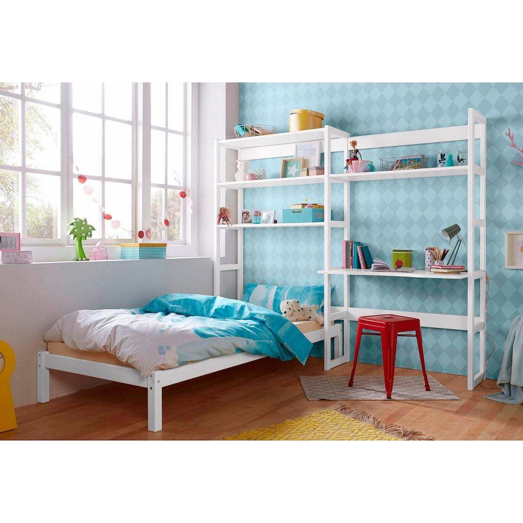 Hoppekids Jugendzimmer-Set »Skagen«, (Set, 13 St.), inkl. Bett und Schreibtisch