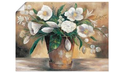 Artland Wandbild »Combination der Reinheit I«, Blumen, (1 St.), in vielen Größen &... kaufen