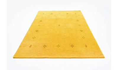 morgenland Wollteppich »Loribaft Teppich handgewebt gelb«, rechteckig, 15 mm Höhe,... kaufen