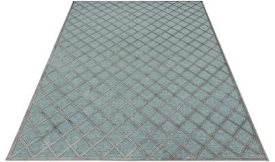 MINT RUGS Teppich »Danton«, rechteckig, 4 mm Höhe, Viskose Glanz, Hoch-Tief Struktur,... kaufen