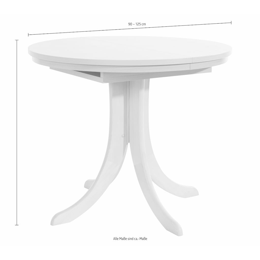 Esstisch »Rom«, ausziehbar auf 125 cm