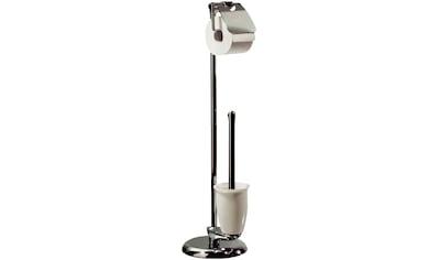 spirella WC-Garnitur »DARWIN«, Garnitur Toilettenbürste und Toilettenpapierhalter, chrom kaufen