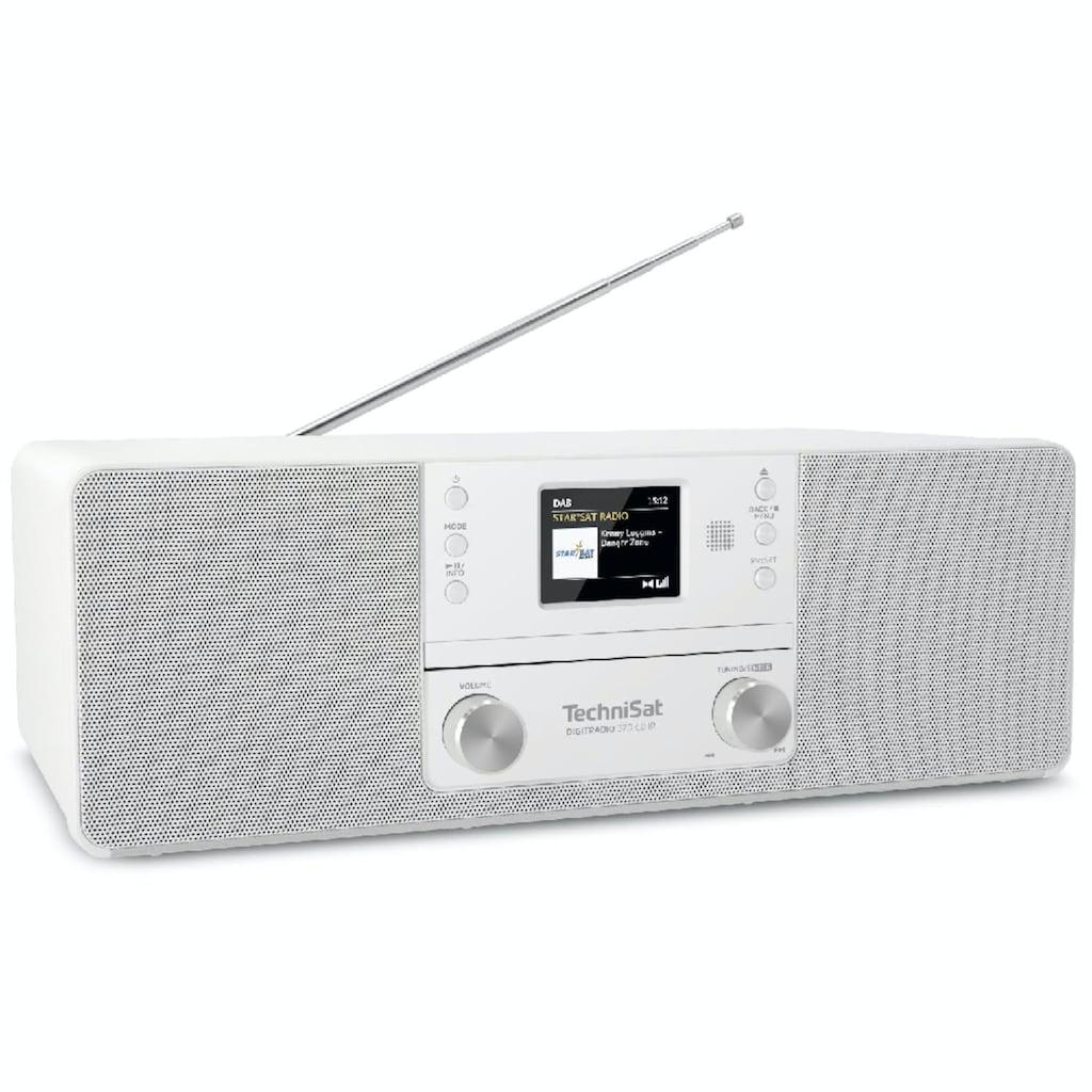 TechniSat CD-Player »DIGITRADIO 370 CD IR«, (A2DP Bluetooth-WLAN-Bluetooth-CD Digitalradio (DAB+)-Internetradio 10 W), Bluetooth