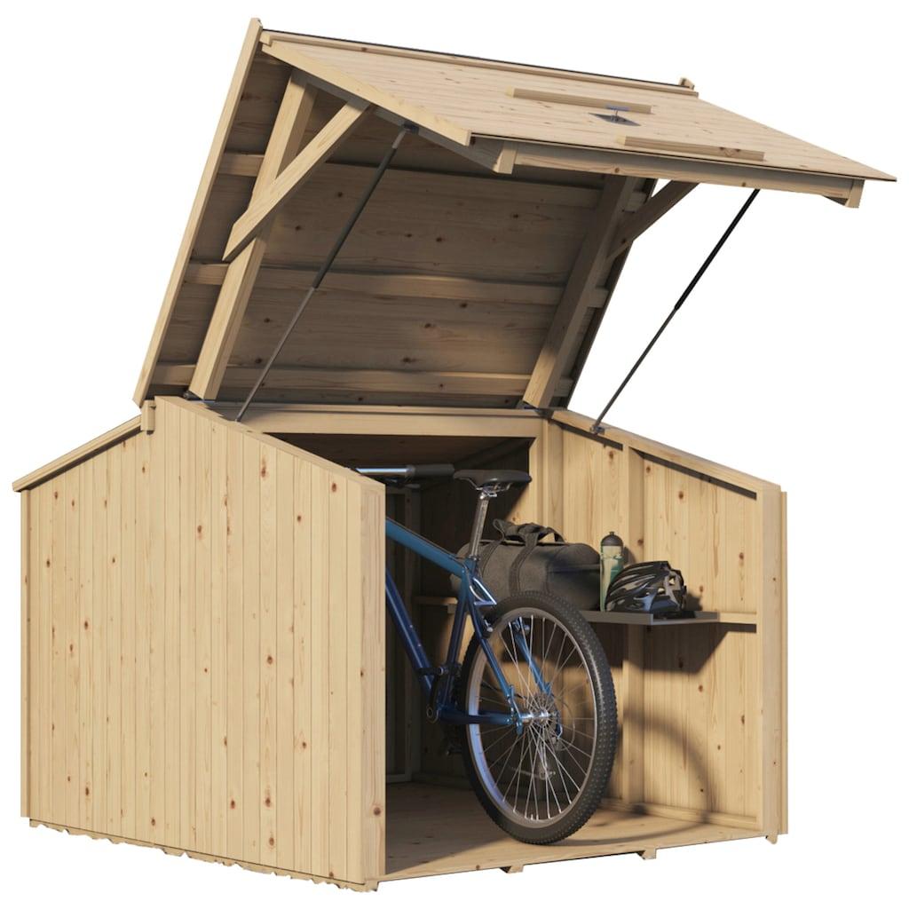 Nordic Holz Fahrradbox »Bikebox«, für 3 Fahrräder, BxTxH: 153x204x146 cm