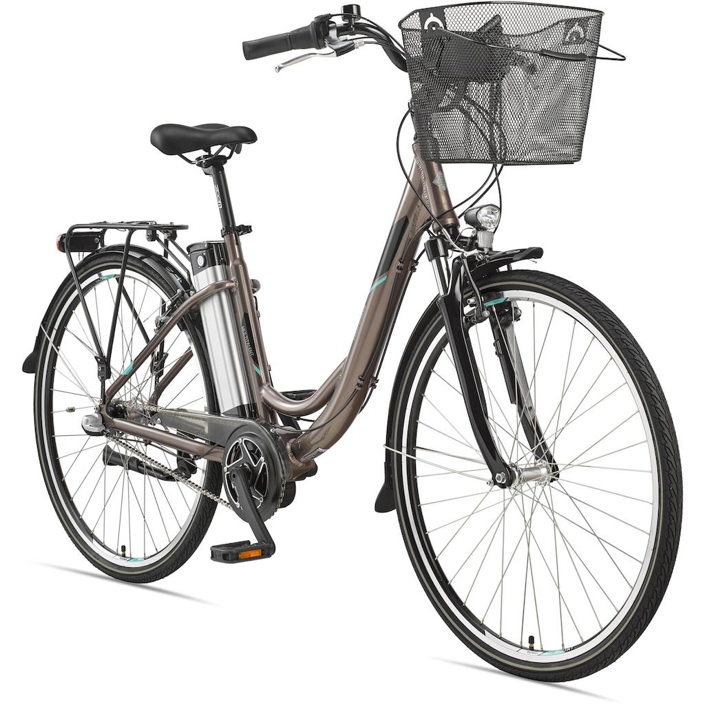 Telefunken E-Bike »Multitalent RC865«, (mit Fahrradkorb)